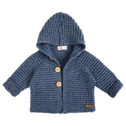 Chaqueta con capucha de lana merino mezcla JEANS