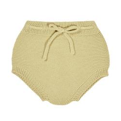 Garter stitch culotte with cord BANANA