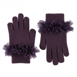 Gloves with gathered tulle BURDEAUX