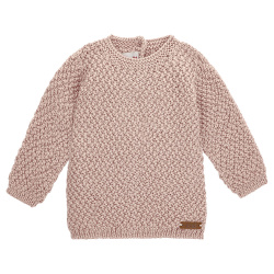 Merino blend sweater with micro relief stitch NUDE