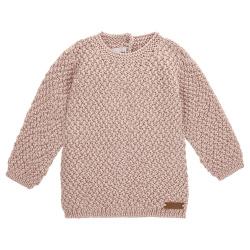 Pull tricot micro relief en merino mélange NUDE