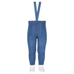 Merino wool-blend leggings w/elastic suspenders JEANS