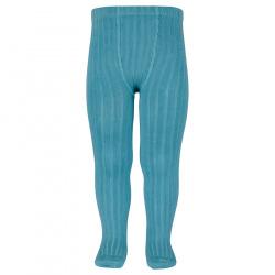Basic rib tights STONE BLUE