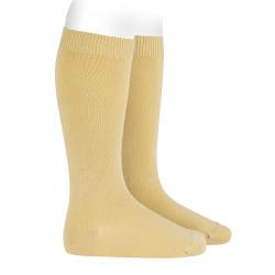 Chaussettes hautes basiques unies BANANE