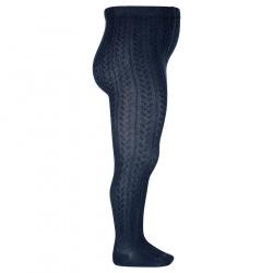 Braided tights NAVY BLUE