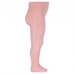 Braided tights PALE PINK