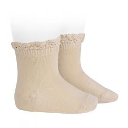 Calcetines con puntilla en el puño LINO