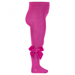 Tights with side velvet bow PETUNIA