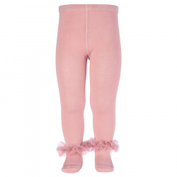 Tulle ruffle tights PALE PINK