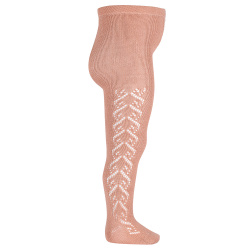 Merino wool-blend tights with openwork hearts MAKE-UP