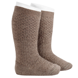 Merino wool-blend patterned knee socks TRUNK