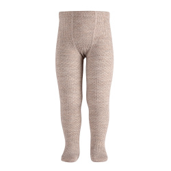 Merino wool-blend patterned tights OATMEAL