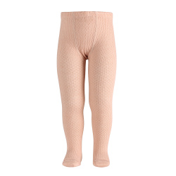 Merino wool-blend patterned tights NUDE