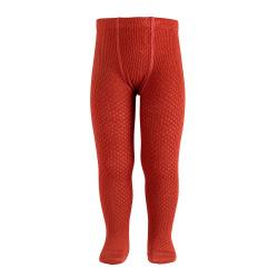 Merino wool-blend patterned tights CAULDRON