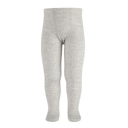 Merino wool-blend patterned tights ALUMINIUM