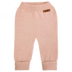 Pantalón largo punto liso de lana merino mezcla NUDE