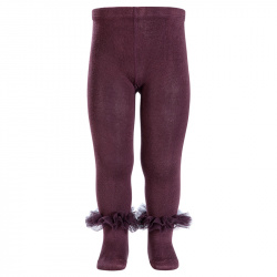 Tulle ruffle tights BOURDEAUX