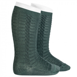 Braided knee socks PINE