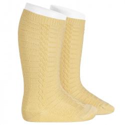 Braided knee socks BANANA