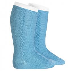 Braided knee socks CLOUD