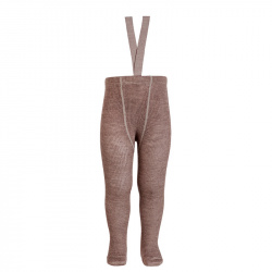 Merino wool-blend tights w/elastic suspenders TRUNK