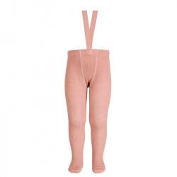 Merino wool-blend tights w/elastic suspenders MAKE-UP