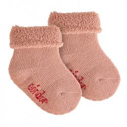 Merino wool-lblend terry non-slip socks MAKE-UP