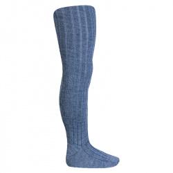 Merino wool-blend rib tights JEANS