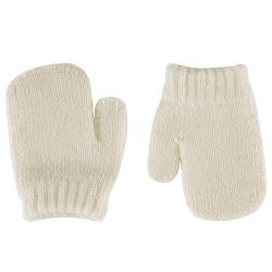 Merino wool-blend one-finger mittens BEIGE