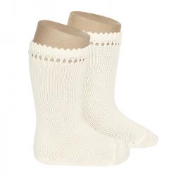 Perle knee high socks BEIGE